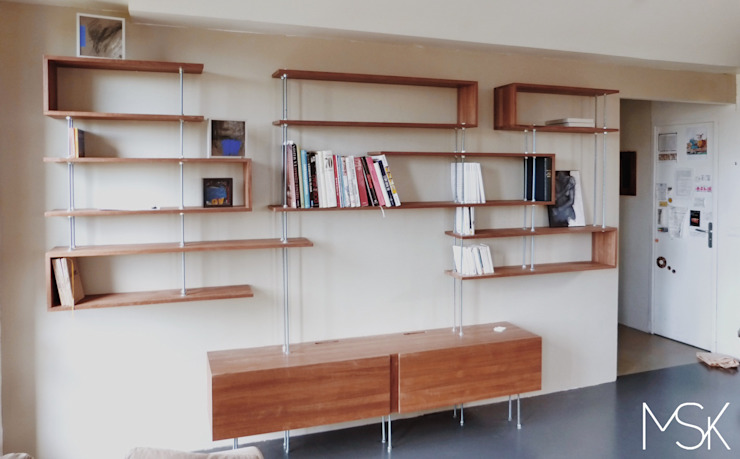 """Bibliothèque """"C"""" vue face par Marie SiudaK SARL Moderne"""