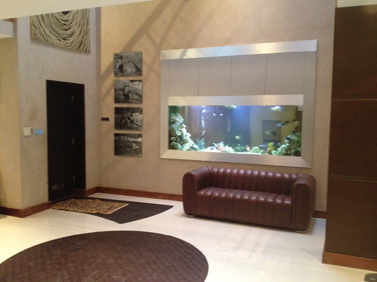Hertfordshire designer aquarium Aquarium Services Modern Corridor, Hallway and Staircase