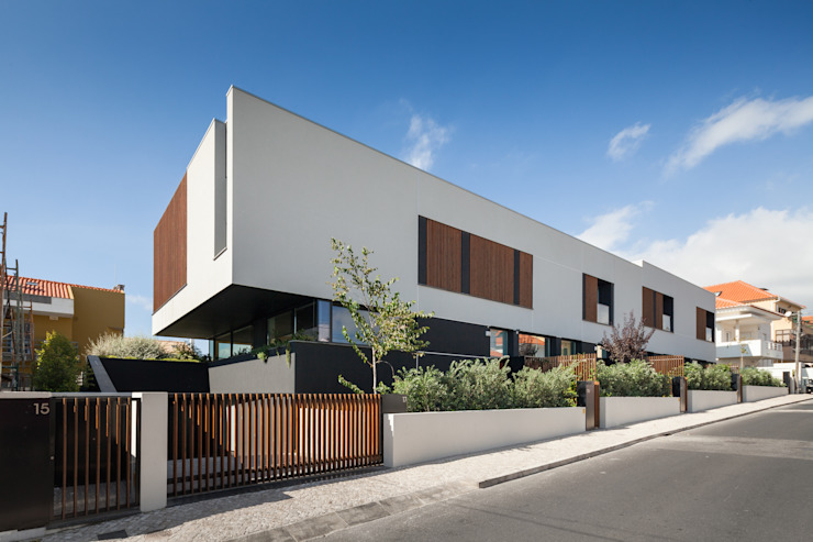 Four villas condominium in Queijas, Oeiras Minimalistische Häuser von Estúdio Urbano Arquitectos Minimalistisch