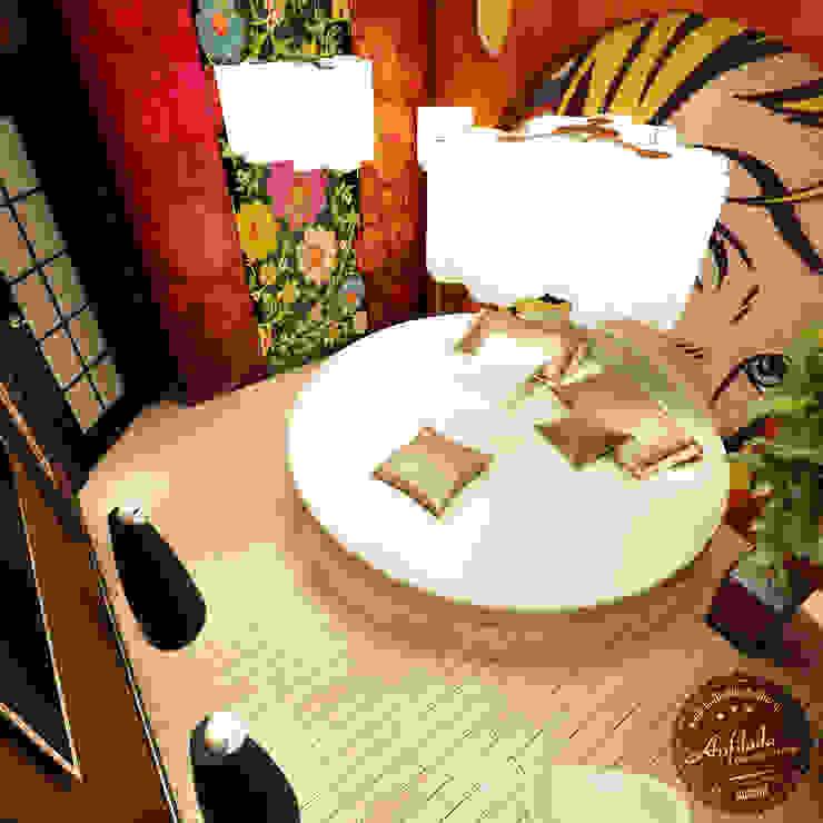 Аппартаменты малой площади Спальня в эклектичном стиле от Anfilada Interior Design Эклектичный