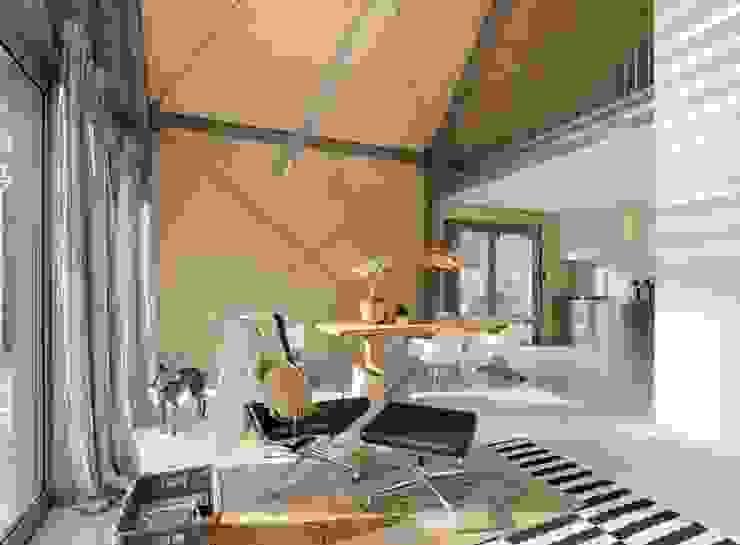 Salones de estilo moderno de Blok Kats van Veen Architecten Moderno