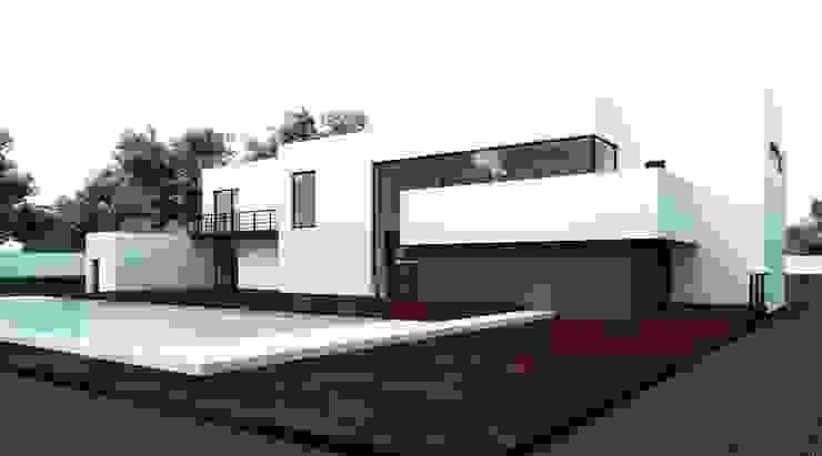 Вилла в Анапе в стиле минимализм (Анжелика Марзоева) Дома в стиле минимализм от Галерея интерьеров 'Angelica Marzoeva' Минимализм