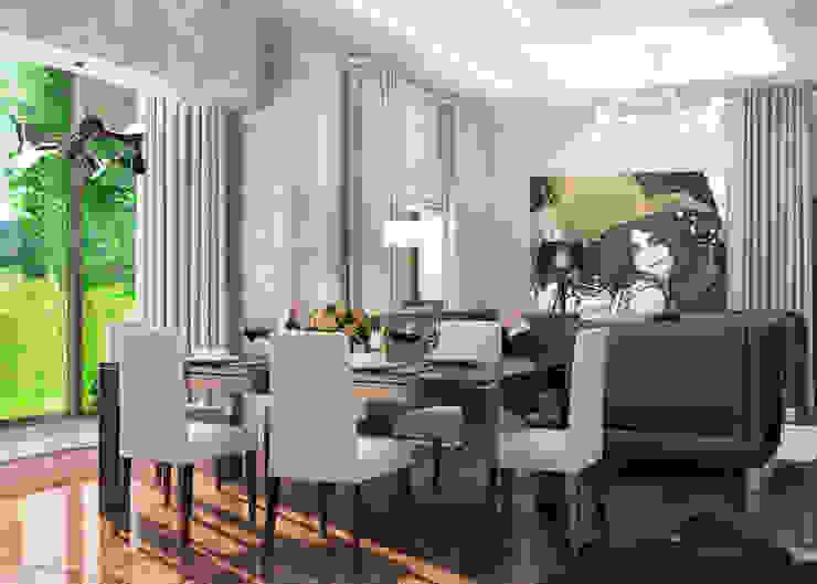 Квартира Столовая комната в стиле модерн от Студия Аксаны Ситниковой Модерн