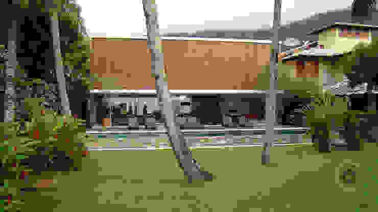 Casa Ilha Bela Márcio Kogan Casas tropicais por BAMBU CARBONO ZERO Tropical