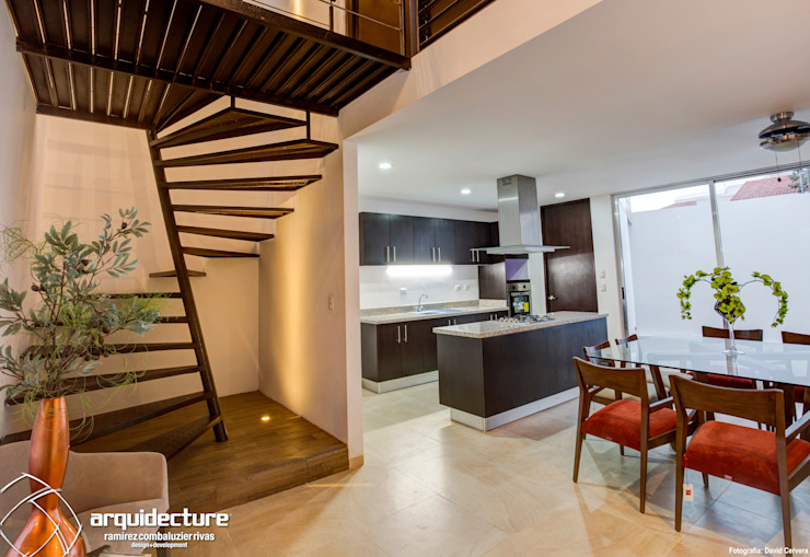 Vestíbulo Pasillos, halls y escaleras minimalistas de Grupo Arquidecture Minimalista