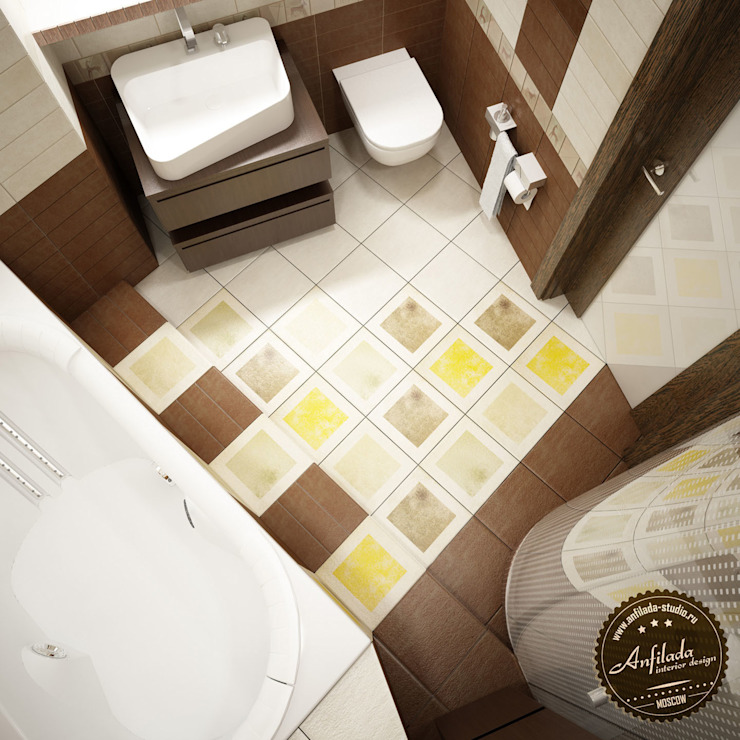 Ванная комната с этническими мотивами Ванная комната в эклектичном стиле от Anfilada Interior Design Эклектичный