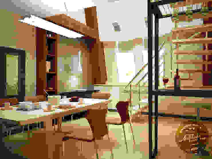 Столовая Столовая комната в стиле минимализм от Anfilada Interior Design Минимализм