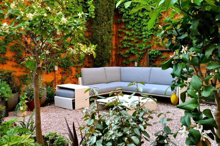 Jardín en Gràcia Jardines de estilo ecléctico de ésverd - jardineria & paisatgisme Ecléctico