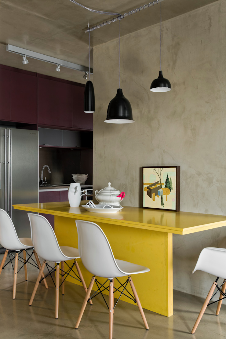 Vila Leopoldina Loft Salas de jantar modernas por DIEGO REVOLLO ARQUITETURA S/S LTDA. Moderno