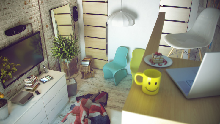 Лофт Спальня в стиле лофт от ToTaste.studio Лофт