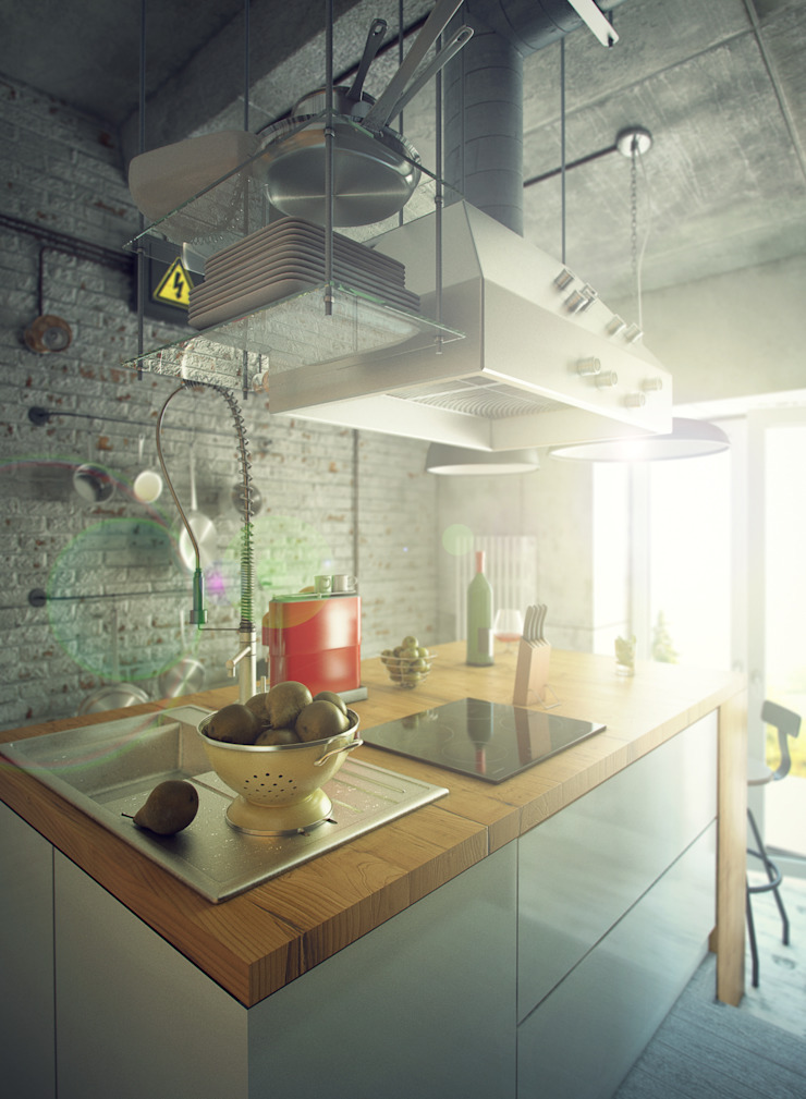 Industrial style kitchen by ToTaste.studio Industrial