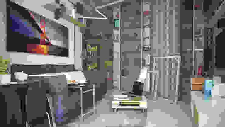 Лофт ToTaste.studio Гостиная в стиле лофт