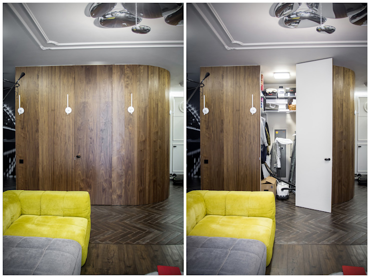 Квартира для молодоженов Гостиные в эклектичном стиле от ToTaste.studio Эклектичный