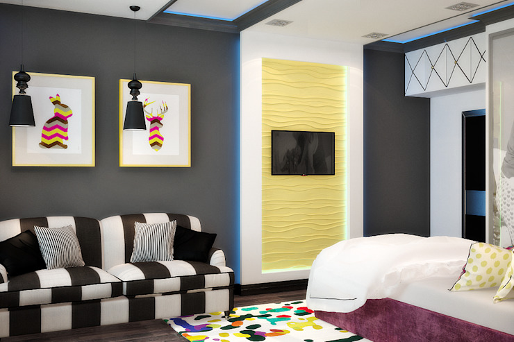 Модная детская для девочки подростка Детская комната в стиле модерн от Студия дизайна Interior Design IDEAS Модерн