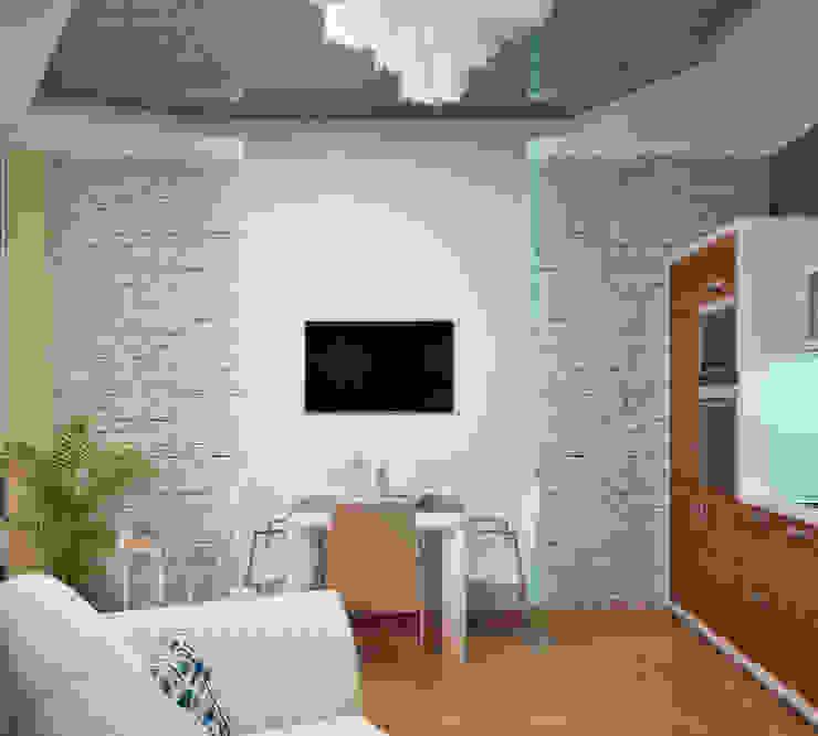 Интерьер в морском стиле - гостиная и кухня Столовая комната в стиле минимализм от Студия дизайна Interior Design IDEAS Минимализм