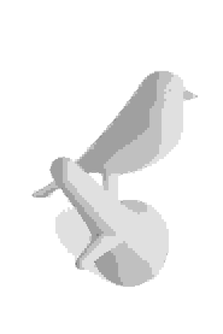 Wieszaki biały ptaszek na gałązce QUALY od BabyDecor Nowoczesny
