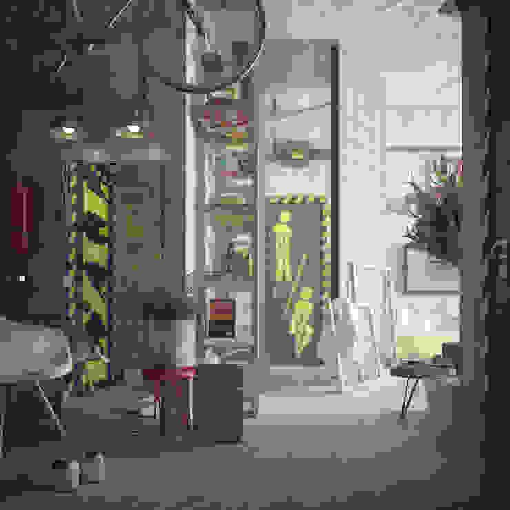 Лофт ToTaste.studio Коридор, прихожая и лестница в стиле лофт