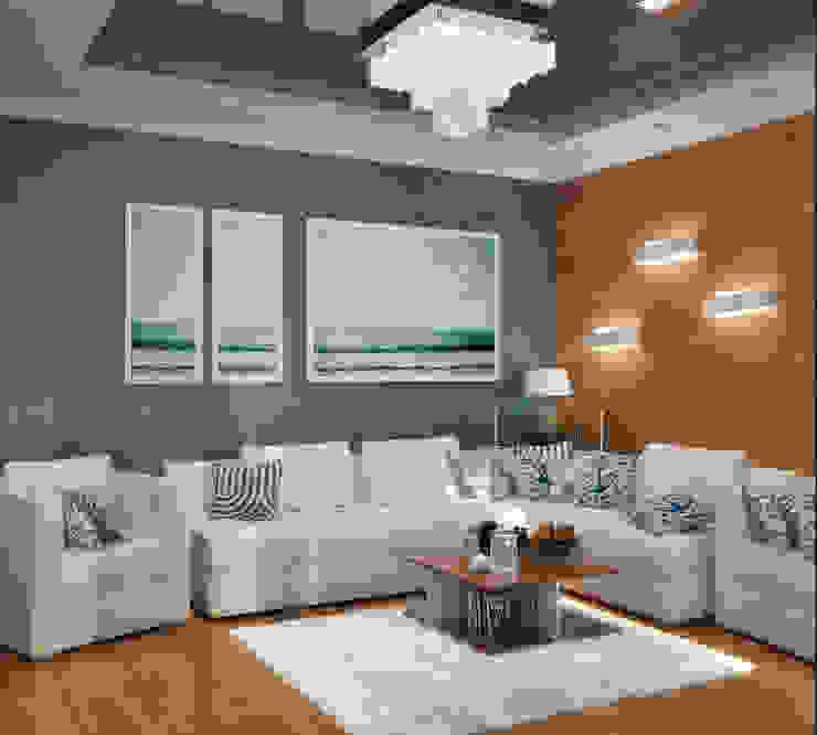 Интерьер в морском стиле - гостиная и кухня Гостиная в стиле модерн от Студия дизайна Interior Design IDEAS Модерн