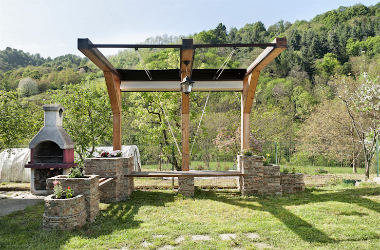 Jardin rustique par Federico Vota design Rustique
