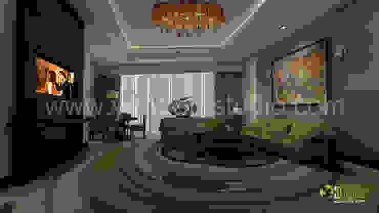 3D Interior Design Rendering for Hotel Room Modern style bedroom by Yantram Architectural Design Studio Modern