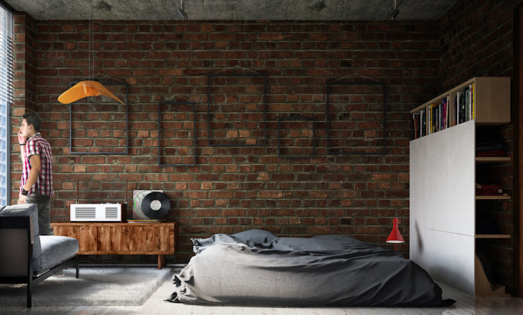 Industrial style bedroom by Lenz Architects Industrial