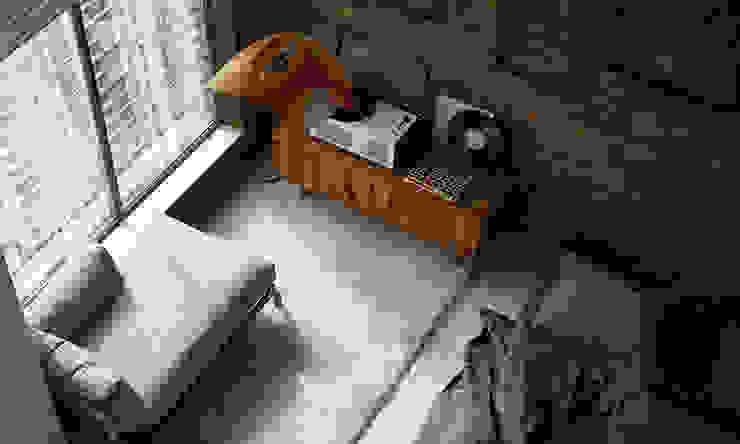 APARTMENT INTERIOR / SHANGHAI Спальня в стиле лофт от Lenz Architects Лофт