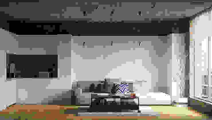APARTMENT INTERIOR / SHANGHAI Гостиная в стиле лофт от Lenz Architects Лофт