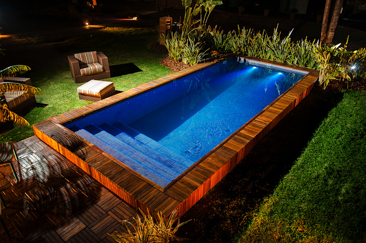 Nowoczesny basen od Adines Ferreira Paisagismo Nowoczesny