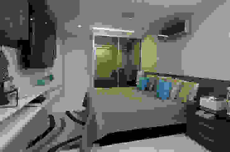Apartamento Jovem casal Quartos modernos por Celia Beatriz Arquitetura Moderno