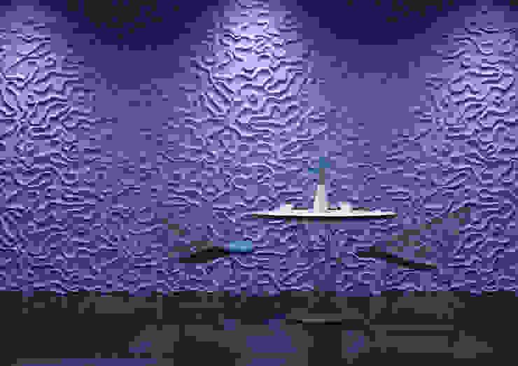 Panele 3D Nowoczesny salon od Deeco Nowoczesny
