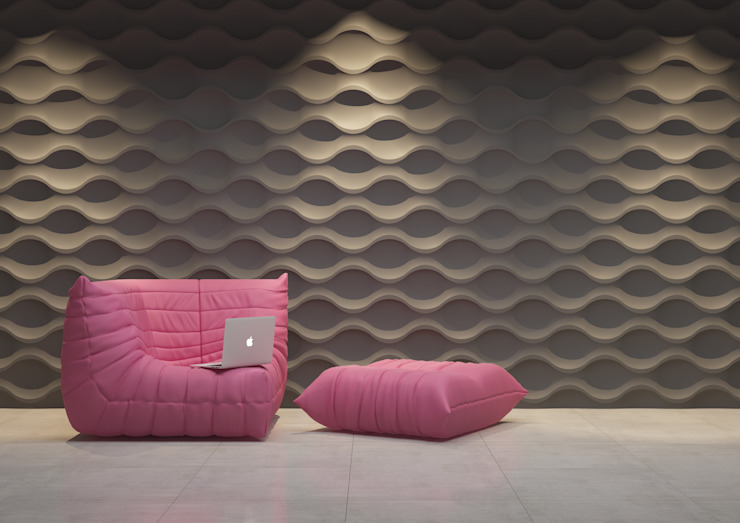 Panele 3D Nowoczesna sypialnia od Deeco Nowoczesny