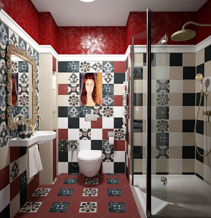 restroom MODI Ванная комната в стиле модерн от МИД | мастерская интерьерного дизайна Модерн