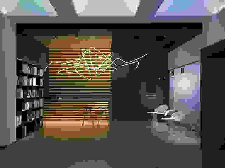 Галерея современного искусства. Екатеринбург Коридор, прихожая и лестница в стиле минимализм от Dmitriy Khanin Минимализм