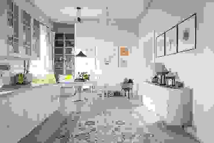 Skandynawski salon od NK design studio Skandynawski