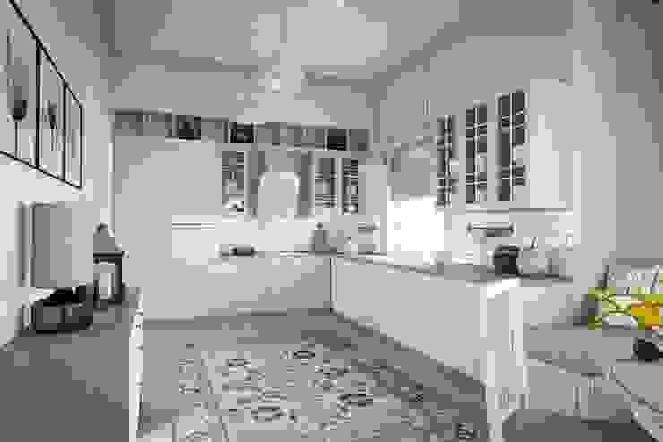 Дизайн дома в скандинавском стиле 160 м2 . Новосибирск Кухня в скандинавском стиле от NK design studio Скандинавский