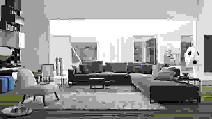 Large Sofa by Molteni & C par Campbell Watson Moderne