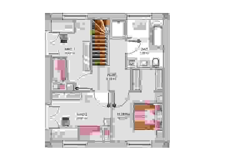 Dennert Massivhaus GmbH Dormitorios de estilo moderno