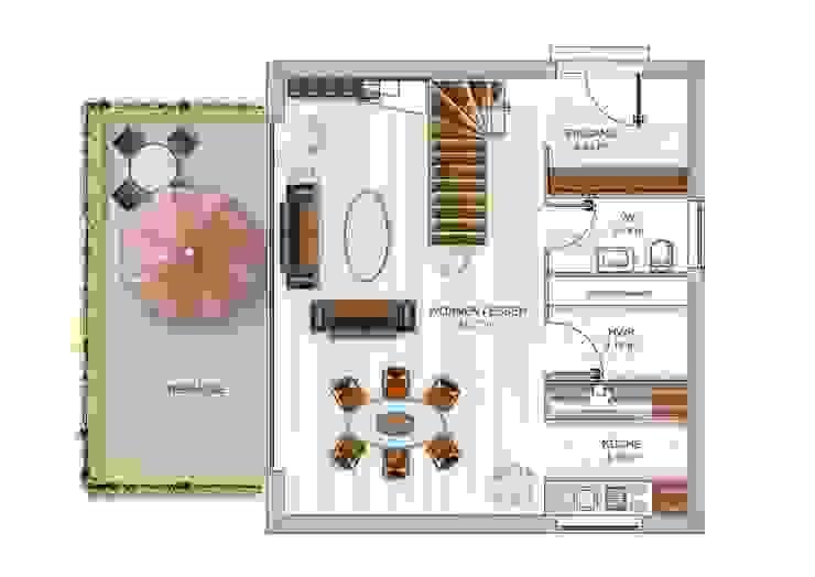 Dennert Massivhaus GmbH Salones de estilo moderno