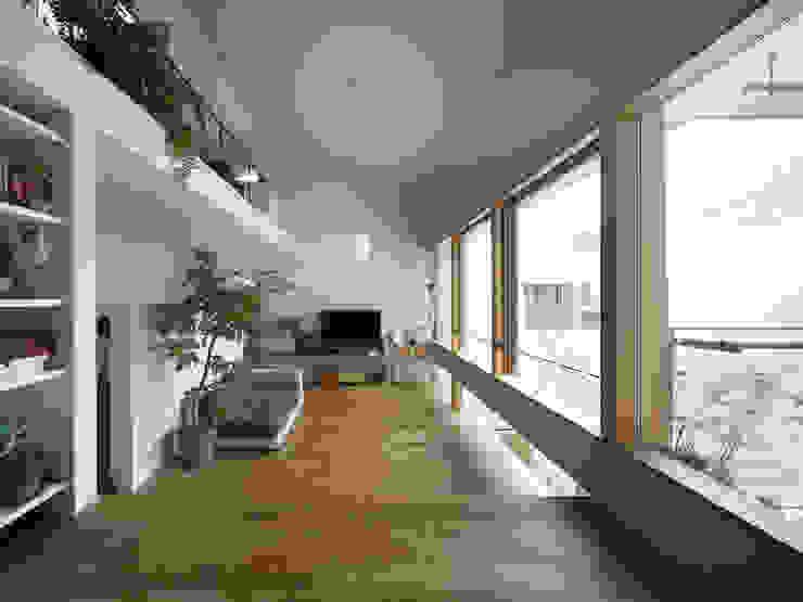Livings modernos: Ideas, imágenes y decoración de 樋口章建築アトリエ Moderno