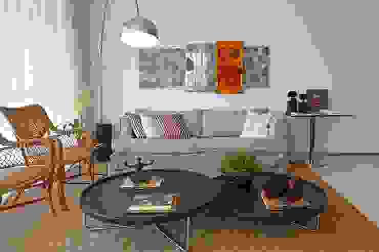 Apartamento Ninho Salas de estar modernas por Coutinho+Vilela Moderno