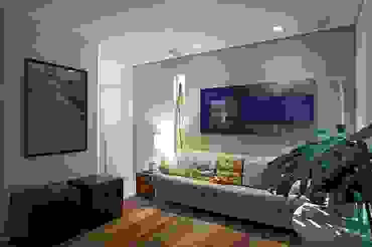 Apartamento Ninho Salas multimídia modernas por Coutinho+Vilela Moderno