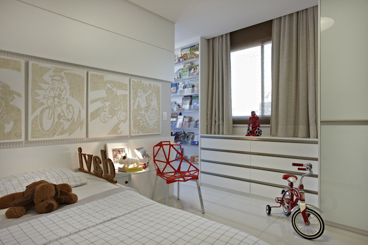 Projekty,  Pokój dziecięcy zaprojektowane przez Coutinho+Vilela, Nowoczesny