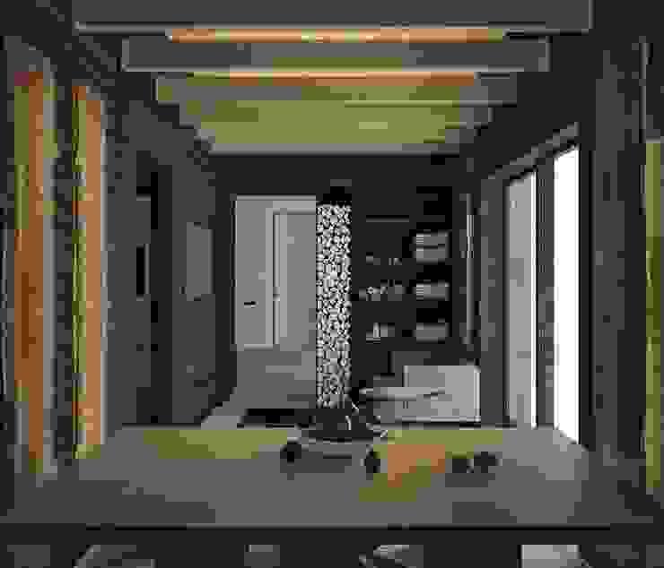 Загородный дом в Краснодаре Спа в стиле модерн от NK design studio Модерн