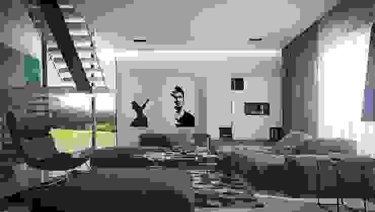 Загородный дом в Краснодаре Гостиная в стиле модерн от NK design studio Модерн