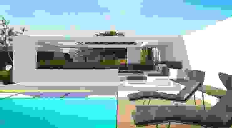 Загородный дом в Краснодаре Бассейн в стиле модерн от NK design studio Модерн