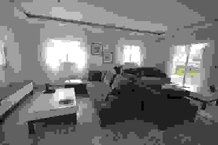 FETHİYE DE BİR VİLLA Modern Oturma Odası AKTİF PERDE Modern