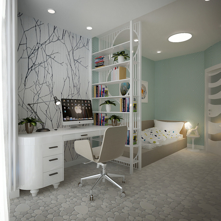 ФЕН-ШУЙ Детская комнатa в стиле минимализм от Biriukova Ievgeniia Минимализм