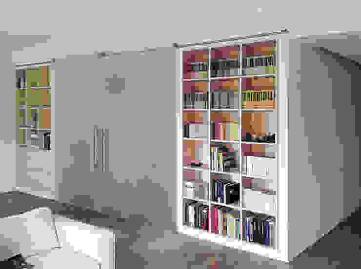 Casa C, interno a Novara Soggiorno minimalista di diegocolliniarchitetto Minimalista