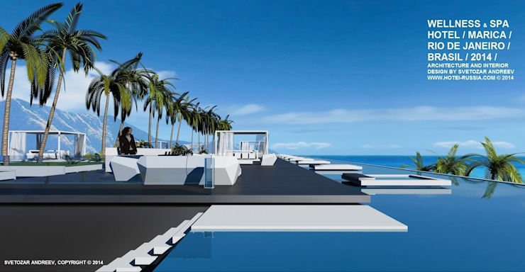 Wellness Spa Hotel, Rio De Janeiro, Brasil Гостиницы в стиле минимализм от Svetozar Andreev Architectural Studio: Hotei-Russia Минимализм