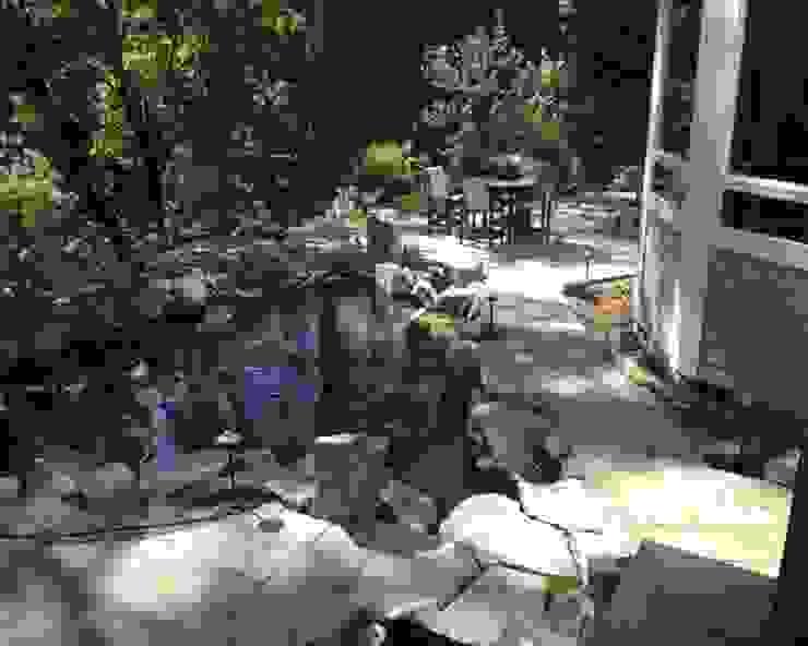 Строительство водоема и Патио + мангал:  в . Автор – Студия 'ART Story',